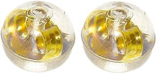 [UNATA.] ピアス キャッチ パーツ 樹脂 ポスト 丸 【 ゴールド 球 1 ペア 2 個 】 キャッチャー シリコン セット 金属 アレルギー アクセサリー (2個)