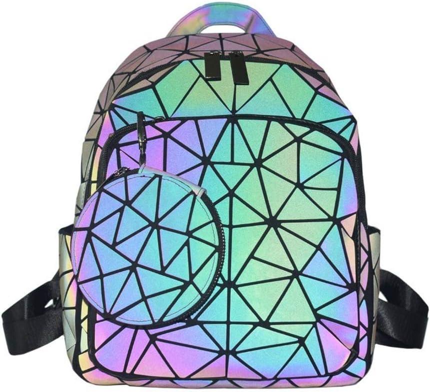We OFFer at cheap prices OLOEY Luminous Regular dealer Backpack for Women Geometric Travel Back Geogrous