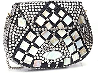 Shakuntala Textiles bridal bag Brass Metal Clutch Sling Bag
