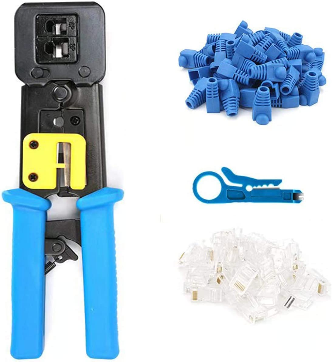 RJ45 Professional Crimp Tool Pass Through Fast Cat5 Cat5e New York Mall a Cat6 At the price