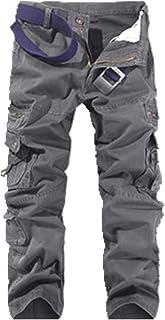 Mono de algodón puro para hombre con múltiples bolsillos para exteriores