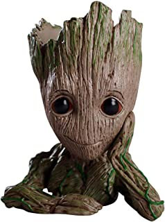 Treeman Baby Groot Flowerpot, Creative Guardians of The Galaxy Groot Planter Pen Container with Hole Action Figures Model Desk Ornament Gift Toy Christmas Gift (TreeMan - A)