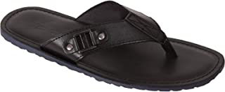 VONZO Men Black Stylish Slip On Formal Casual Slipper Flip Flops