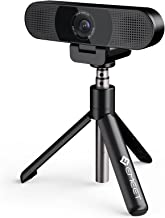 3 in 1 Webcam with Tripod & Privacy Cover, eMeet C980 Pro Webcam with Microphone, 2 Speakers & 4 Built-in Noise Reduction ...