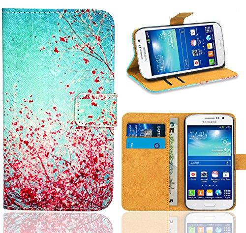 Samsung Galaxy Grand Neo / Grand Neo Plus Handy Tasche, FoneExpert® Wallet Hülle Flip Cover Hüllen Etui Ledertasche Lederhülle Premium Schutzhülle für Samsung Galaxy Grand Neo / Grand Neo Plus (Pattern 3)