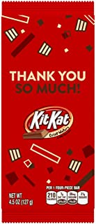 KIT KAT Milk Chocolate Wafer Thank You Appreciation Candy Bars for Christmas and Holiday Season, 4.5 oz Bars, 12 Count