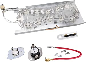 3387747 Heating Element & 279816 Thermostat Cut off Kit & 3392519 Thermal Fuse for Maytag Whirlpool Kenmore Dryer Heating Element Assembly -Replaces AP6008281 8527865 PS11741416 AP3094244 AP6008325