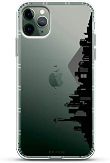 Landmarks: Seattle Black & White Skyline   Luxendary Air Series Clear case with 3D-Printed Design & Air Cushions for iPhone 11 MAX