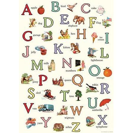 Cavallini Papers Geschenkpapier Dekoration Alphabet Vintage Nostalgie Schule