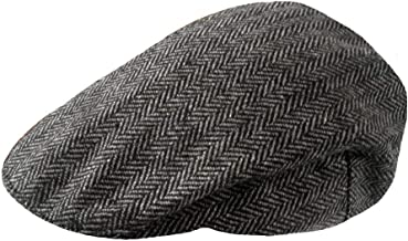 TOSKATOK® Mens Tweed Flat Caps