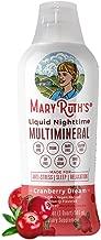 Liquid Sleep Multimineral by MaryRuth's - Cranberry - Vegan Vitamins, Antioxidants, Minerals, Magnesium, Calcium & MSM - Natural Sleep & Stress Aid - Muscle Relaxation - No Melatonin - Non-GMO - 32oz