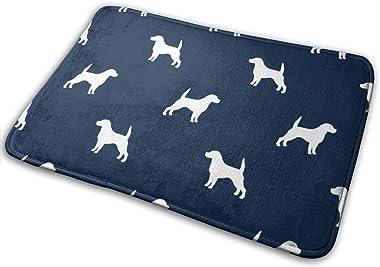 Beagle Pet Quilt B Dog Breed Coordinate Silhouette_24846 Doormat Entrance Mat Floor Mat Rug Indoor/Outdoor/Front Door/Bathroo