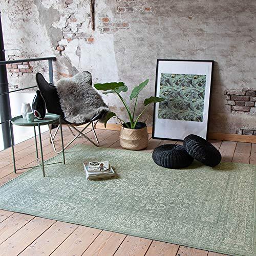 FRAAI Teppich Vintage - Wonder Oriental Grun - 140x190cm - Kurzflor - Antik, Vintage - Klassik, Orientalisch - Wohnzimmer, Esszimmer, Schlafzimmer