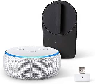 Echo Dot 第3世代 - スマートスピーカー with Alexa、サンドストーン + セサミ mini スマートロック本体 マットブラック + Wi-Fiアクセスポイント