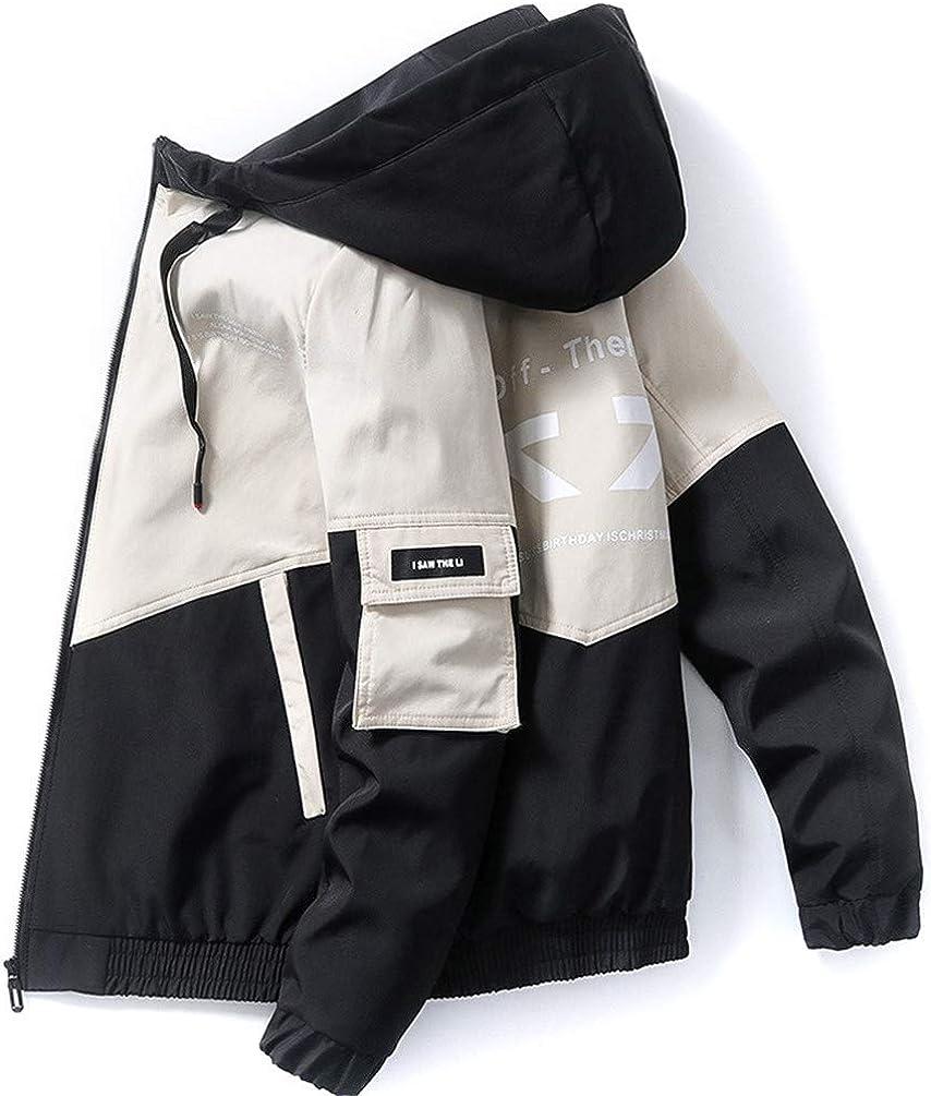 COTZFOZ Spring Autumn Streetwear Jackets Men Hooded Casual Windbreaker Male Hip Hop Coat