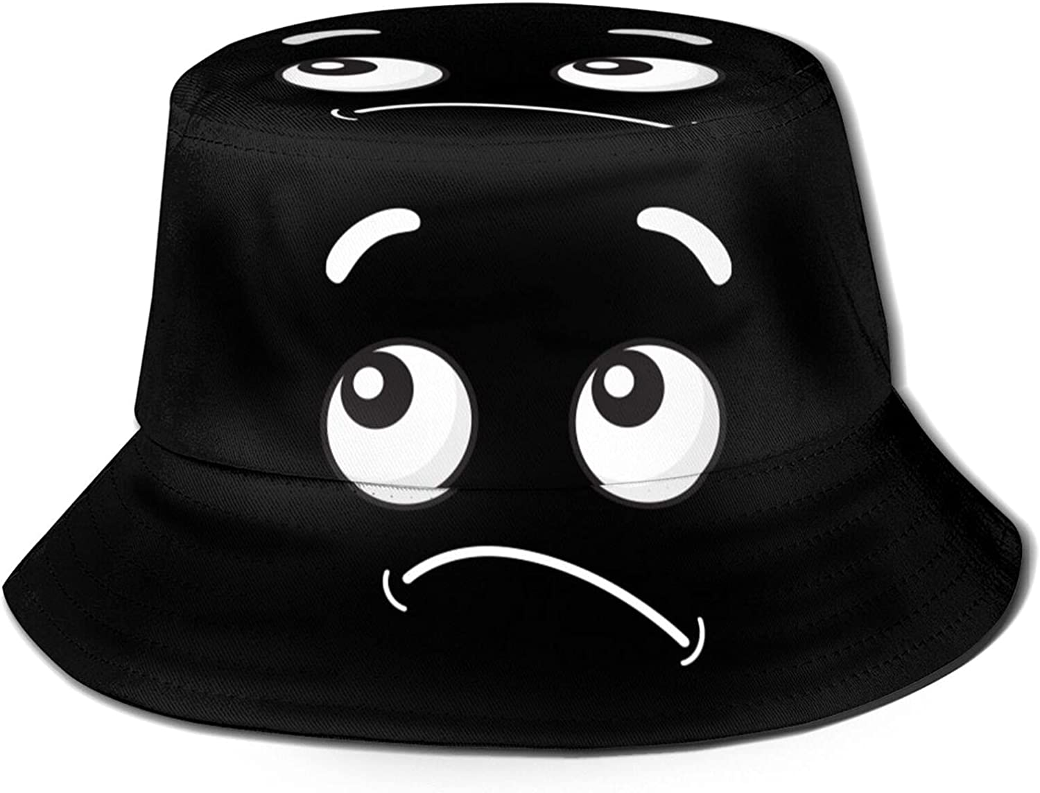 Arrogant and Dismissive Expression on The Face Bucket Hats Beautiful Summer Travel Beach Sun Hat Black