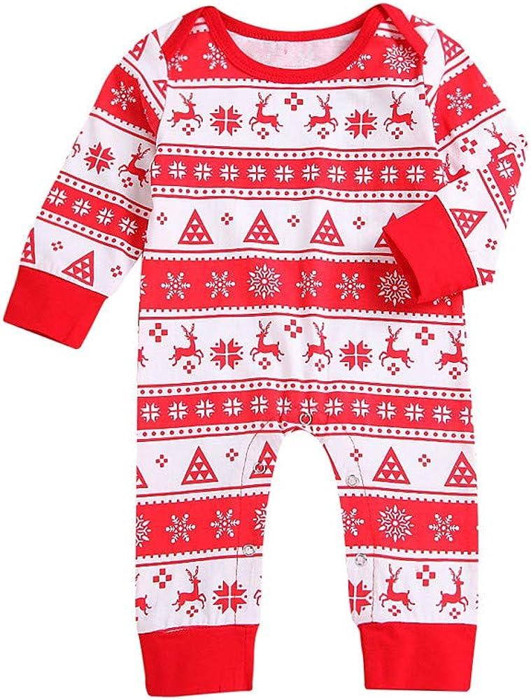 Weihnachten Kleinkind lang/ärmelig Geagodelia Baby-Strampler f/ür Neugeborene M/ädchen Jungen