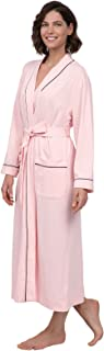 Long Women's Cotton Robes - Soft Robe Womens