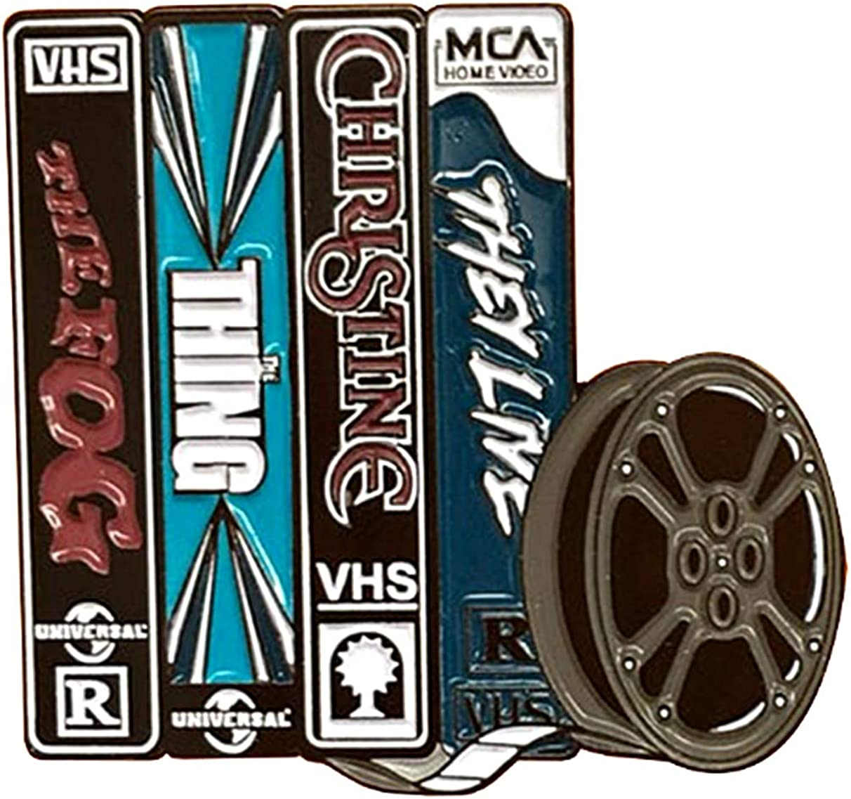 EC Trading Horror Movies VHS Tapes 1 Inch Tall Metal Enamel Pin