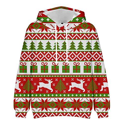 Mr.BaoLong&Miss.GO Otoño E Invierno Suéter Navideño Suéter De Pareja Deportes Y Ocio Suéter con Capucha Traje Familiar Camisa Básica