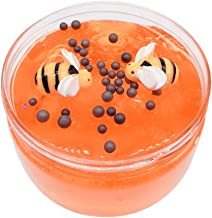 Unionm Slime Toys, DIY Supplies 100ML Honeybee Crystal Putty Sludge Clay Toy Mud Soft and Non-Sticky Scented Gifts for Kids Boys Girls Stress Anxiety Relief (Orange-100ML)