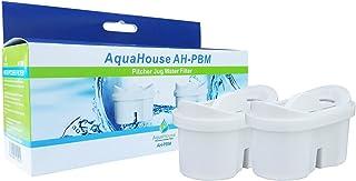 AquaHouse AH-PBM Filtre à Eau Cartouches compatibles avec Brita Maxtra carafes filtrantes, Bi-Flux & Tassimo