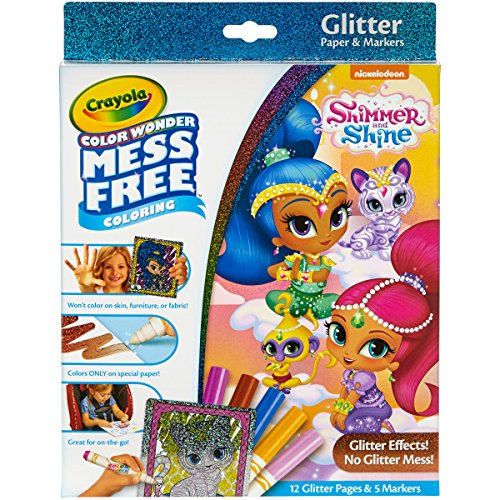 CRAYOLA Color Wonder - Juego de marcadores Multicolores con Purpurina y Dibujos, 29,21 x 22,09 x 2,28 cm, no aplicable, Multicolor, 29.21 x 22.22 x 2.03 cm
