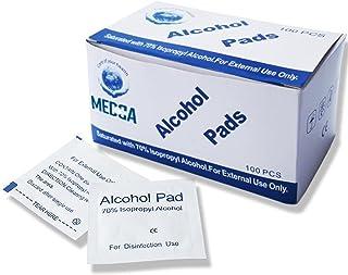 Alcohol Prep Pads, Sterile, Medium, 2-Ply Pack of 100
