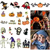 Halloween Temporary Tattoos for Kids-190PCS Halloween Decorations Assorted Temp Tattoos Glow in the Dark Halloween Tattoos Stickers Trick or Treat TempTats Ghost Monster Pumpkin Temp Tattoos for Halloween Party Favors Supplies Decorations