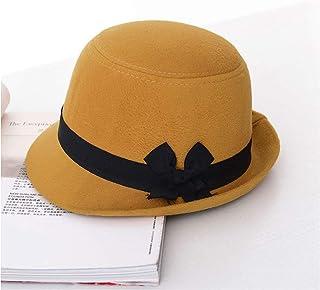 7f21e298fae FREE Shipping. MingDe Sports Autumn Wool Felt Fedoras with Bowknot Band  Stingy Brim Jazz Cap Bowler Hat Trilby