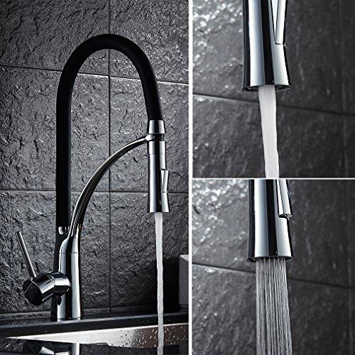 Auralum 360°Rubinetto di lavabo con canna alta flessibile...