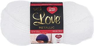 Red Heart E400BM.8010 With Love Metallic Yarn, White