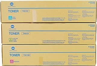 Konica Minolta TN-615 Standard Yield Toner Cartridge Set Colors Only (CMY)