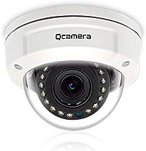 """Q-camera Dome Security Camera 5MP 4 in 1 TVI/CVI/AHD/CVBS 1/2.5"""" Sensor 2.8-12mm Varifocal Lens Vandal-Proof 45ft 15 LEDs ..."""