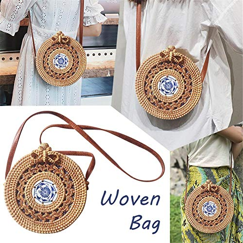 Stroh Clutch Bag Böhmen Aushöhlen Keramik Dekorative Handgemachte Stroh Gewebte Tasche Strandtasche Aufbewahrungstasche