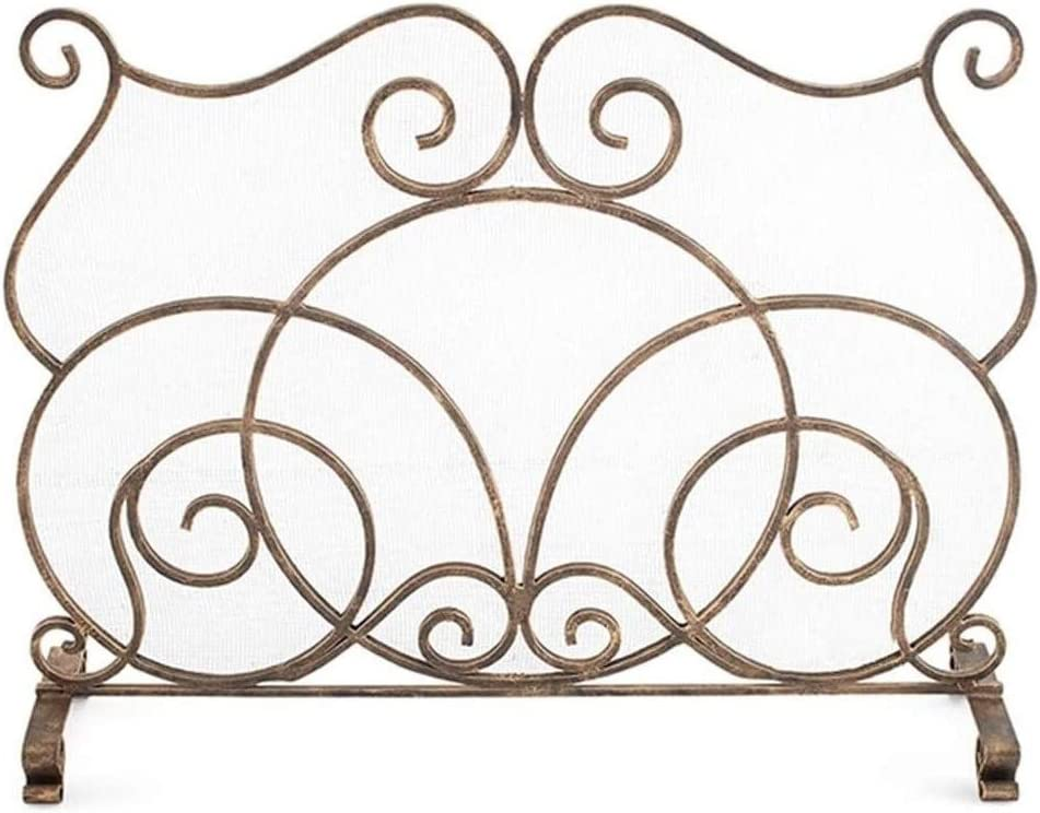 Fireplace Cheap mail order sales Max 71% OFF Screen Decorative Gold Stov