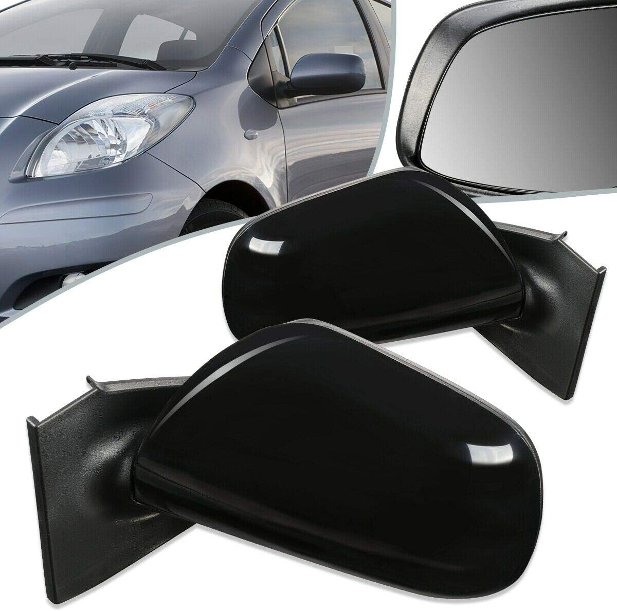 Free Shipping New Pair Manual Door Mirror Ranking TOP12 TO1320233 TO1321233 Hatchback