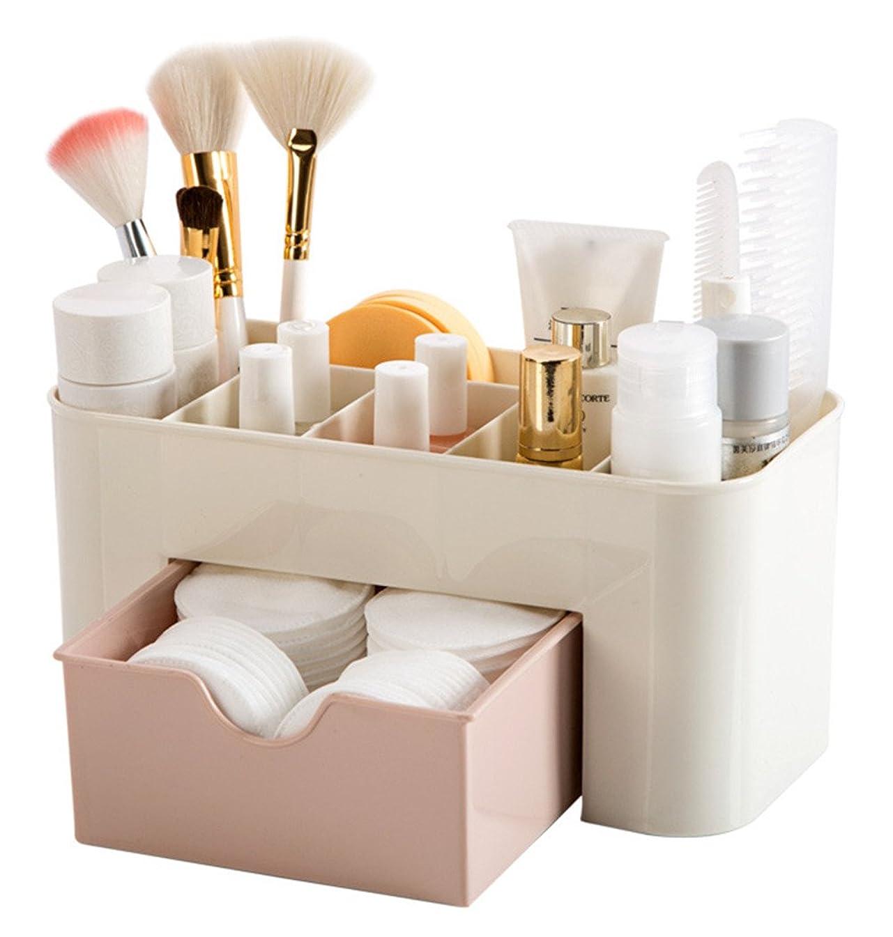 存在魚事実上ZUOMA メークボックス 化粧品収納ボックス コスメスタンド 引き出し式 メークケース 小物/化粧品入れ コスメ収納 透明アクリル 大容量 (ピンク、22*10*10.3CM)