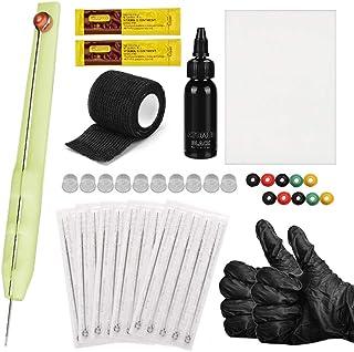 Yousir Handpoke en stick-tattoo-kit, doe-het-zelf tattoo-accessoires, inkthandschoenen, tattoo-naalden, oefenhuid set