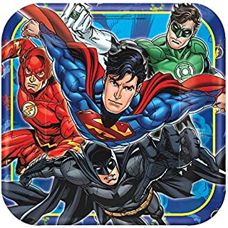 American Greetings Justice League Paper Dinner Plates, 8-Count