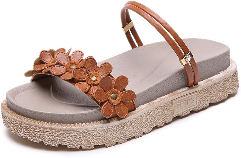 Btrada Womens Slides Sandals-Summer Open Toe Slip On Flats shoes-Beach Sandal
