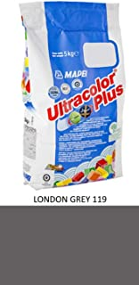 Royal Apex Mapei Ultracolor Plus High Performance Tile Grout Fast Set Water Repellent | 5Kg (LONDON GREY119)