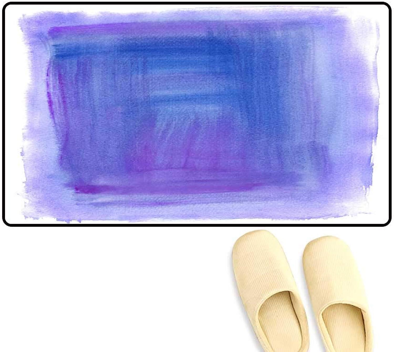 Antiskid Doormat Purple Watercolour Background