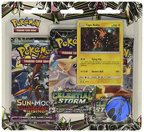 Pokemon TCG: Sun & Moon Celestial Storm 3 Pack Blister