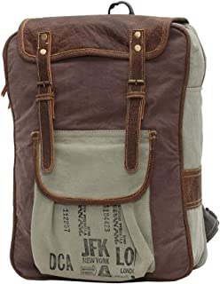 Myra Bag The Traveller Upcycled Canvas Backpack S-0828