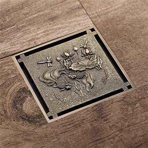 wangYUEQ Tapa de desagüe de Ducha 12.5 * 12.5cm Strader Strainer Suelo Drenaje Gran Flujo de desodor Cuarto de baño Drenaje de Piso
