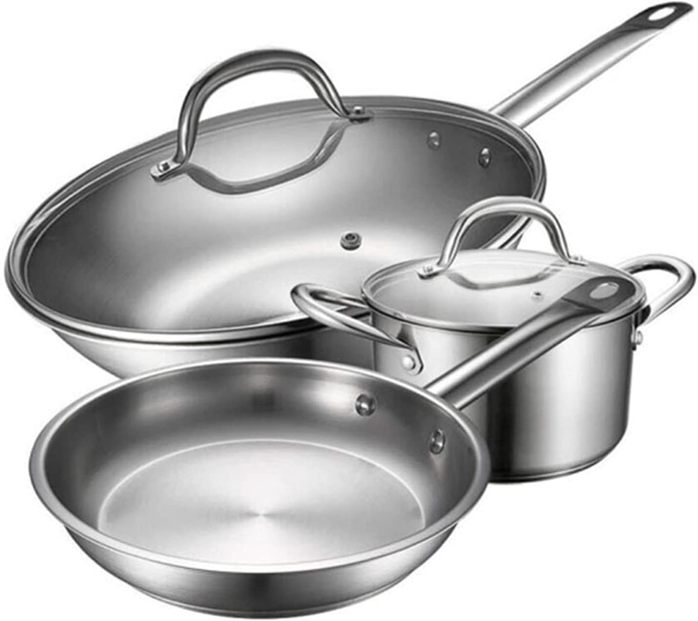 Max 64% OFF ZXNRTU 3 Piece Cookware Set Non-Stick Coating Great interest Dishwasher S with