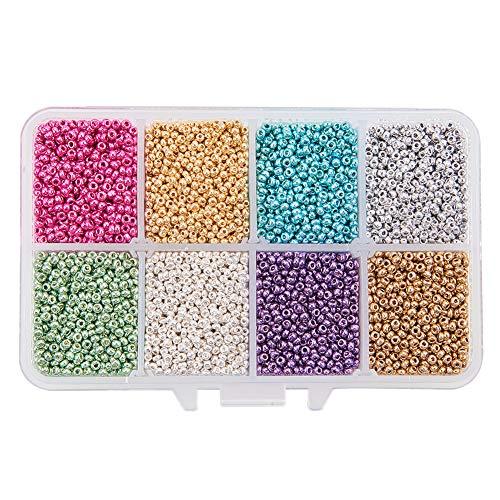 Argent Fer Tube Spacer Beads 2.5 x 5 mm 500 pcs Art Hobby À faire soi-même Fabrication De Bijoux