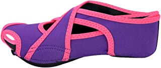Nikou Yoga Socken, professionelle Erwachsene Anti-Rutsch-Fitness-Training Yoga Dancing Socks SchuheL-Lila