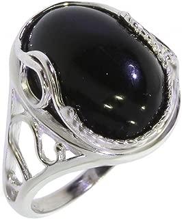 Anello Black Vintage Borchiato con Pietra Naturale ABV3981